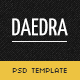 Daedra - creative portfolio Template - ThemeForest Item for Sale