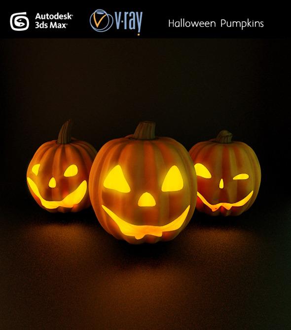 3DOcean Halloween pumpkins 3173405