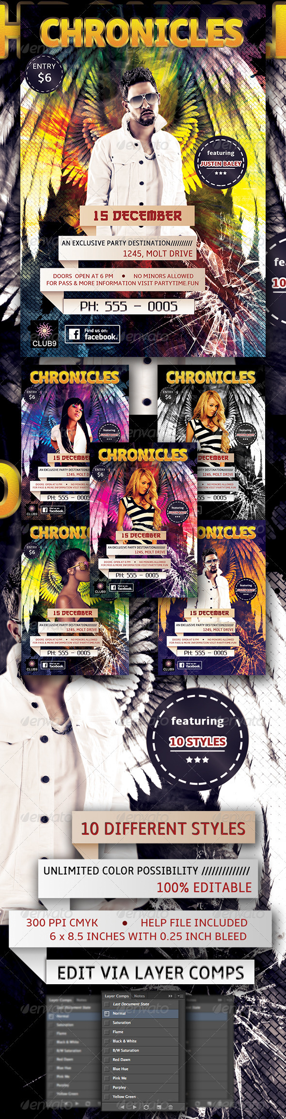 Chronicles Flyer - Clubs & Parties Events