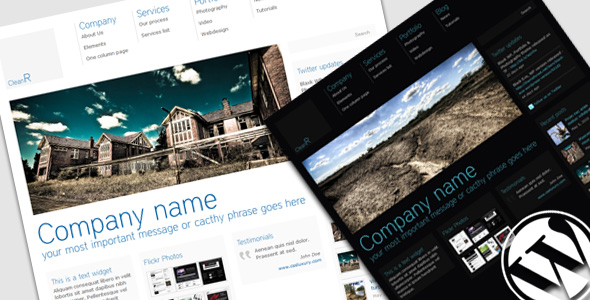CleanR Theme - Wordpress Version