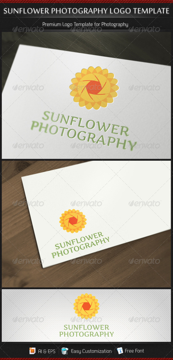 GraphicRiver Sunflower Photography Logo Template 3171621
