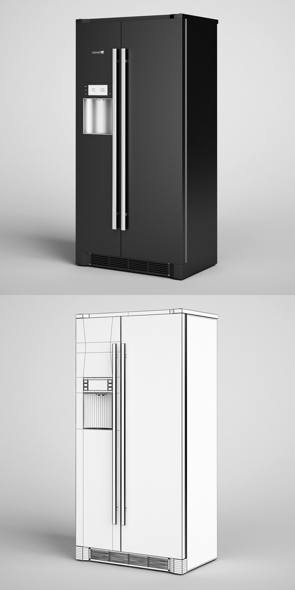 3DOcean CGAxis Side by Side Refrigerator 13 327421