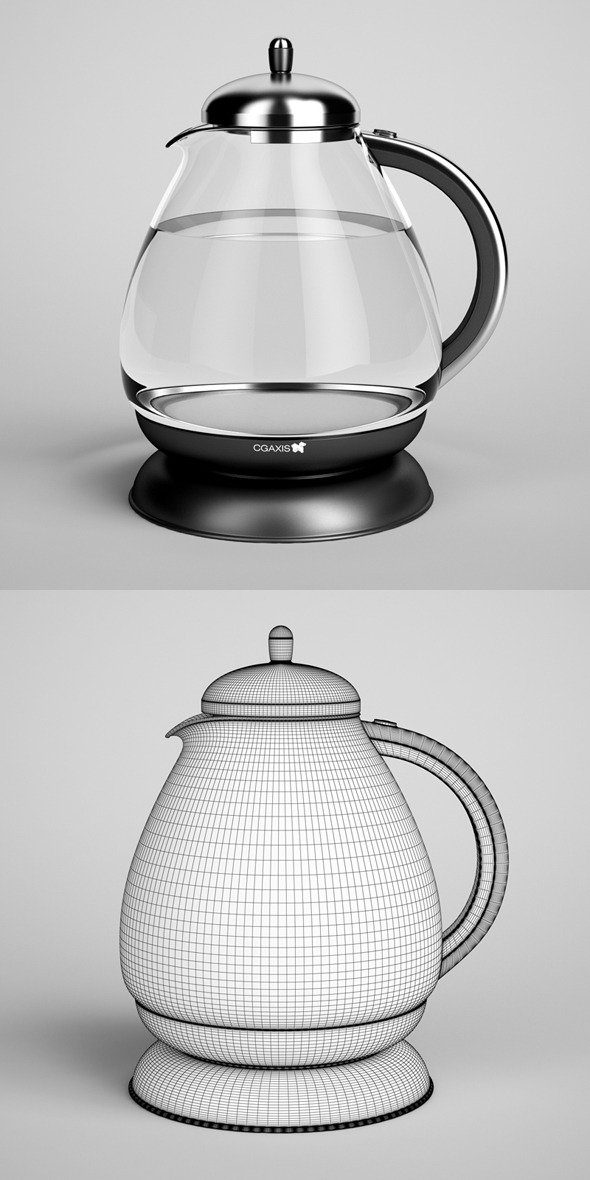 3DOcean CGAxis Electric Kettle 03 327623