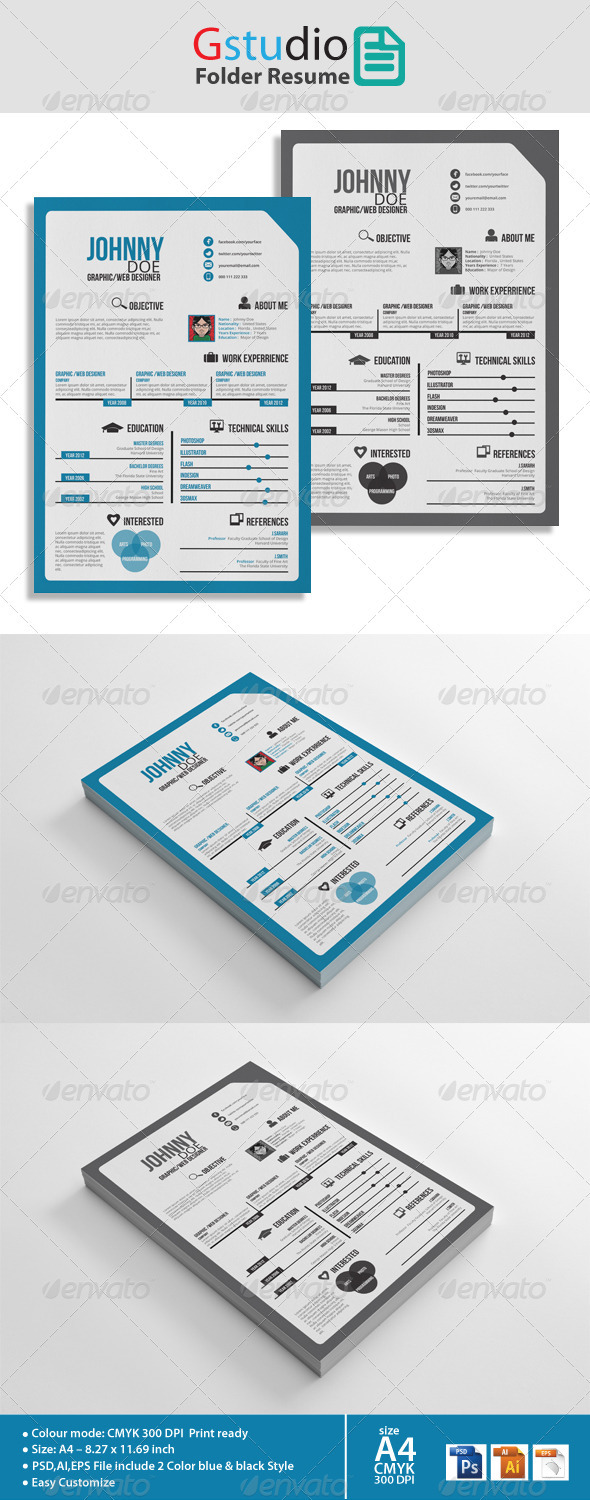 Gstudio Folder Resume - Resumes Stationery