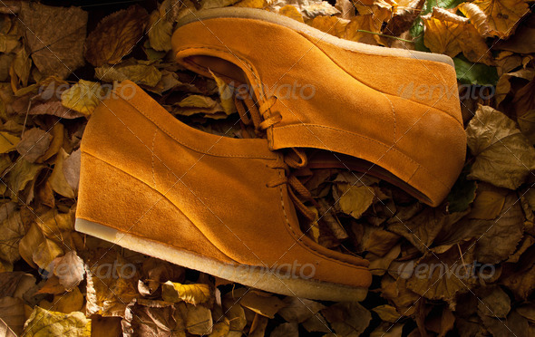 suede shoes - Stock Photo - Images