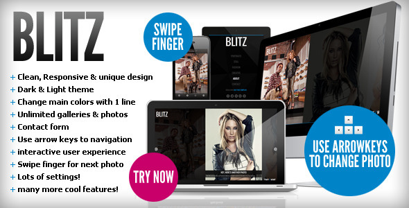 Blitz - Responsive &amp; Unique HTML template - Portfolio Creative