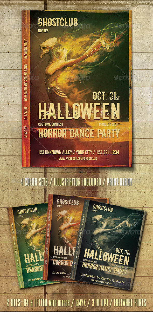 GraphicRiver Halloween Party Flyer Template 3182108