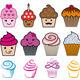 Cupcake Designs, Vector Set - GraphicRiver Item for Sale