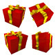 Red Gift With Yellow Ribbon - GraphicRiver Item for Sale