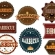 Set of barbeque labels - GraphicRiver Item for Sale