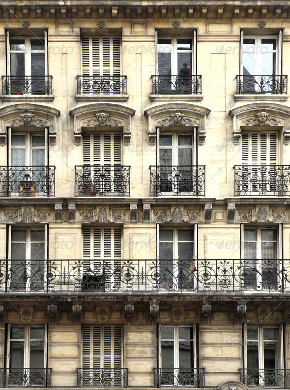 Old Apartment Building Facade With Balcony Stock Photo By Majafoto