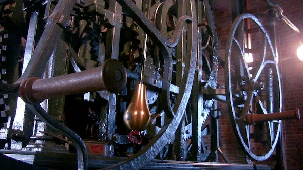 VideoHive Wheels and Gears of Vintage Tower Clock 3183780