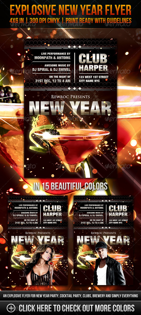 Explosive New Year Flyer - Clubs &amp; Parties Events