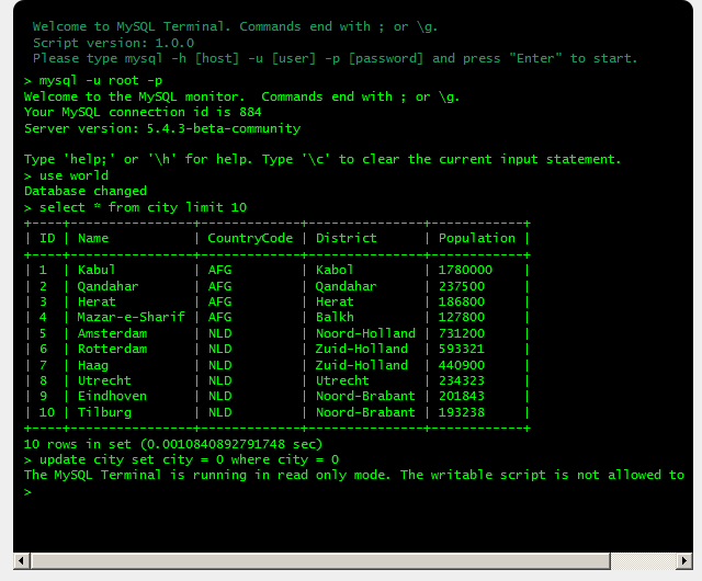 Super MySQL Terminal