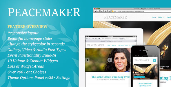 ThemeForest Peacemaker The WordPress Theme for Churches 3184589
