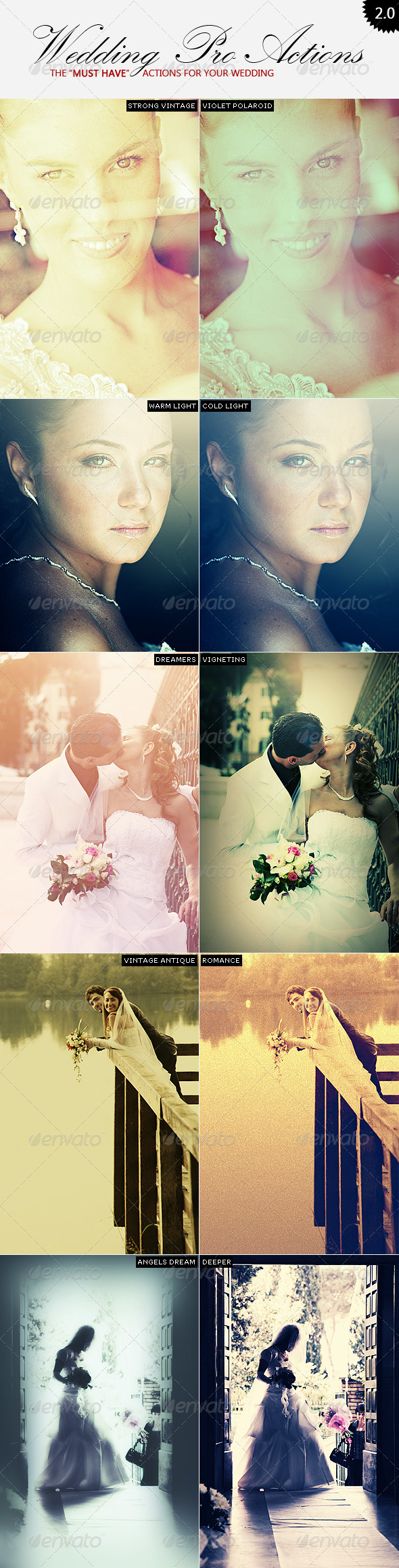 Wedding Pro Actions | 2.0 - Photo Effects Actions