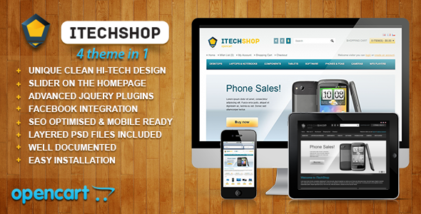 iTechShop OpenCart 1.5.4 Theme - Technology OpenCart