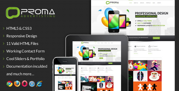 ThemeForest Proma Responsive Multi-Purpose Website Template 3185178