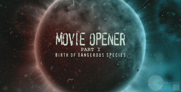 After Effects Project - VideoHive Movie opener Dangerous species 3186338