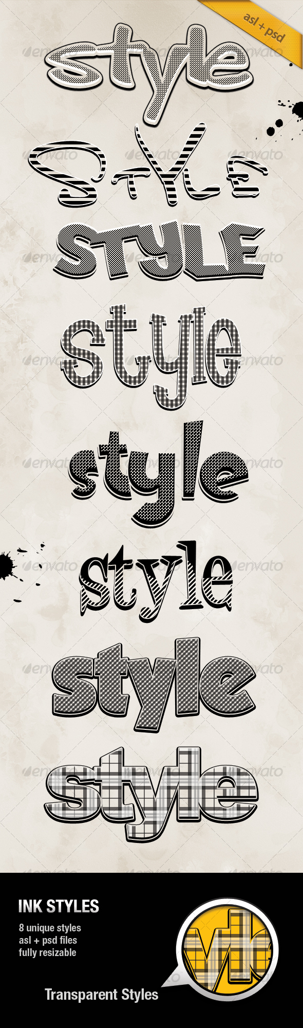 INK Styles - Text Effects Styles