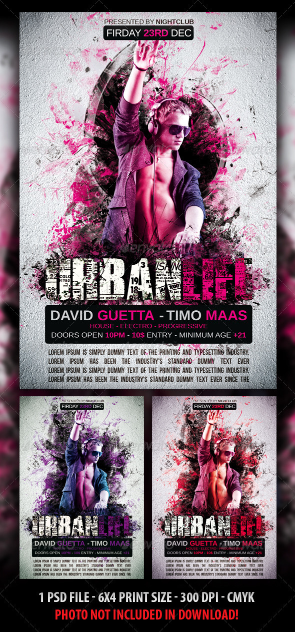 GraphicRiver Urban Life Party Flyer 3187751
