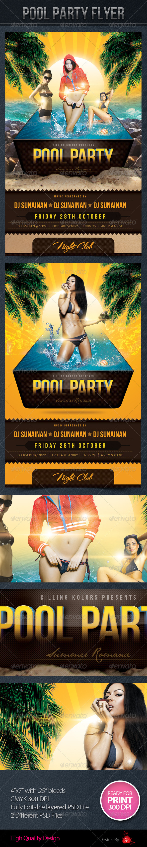 Pool Party Flyer - Print Templates