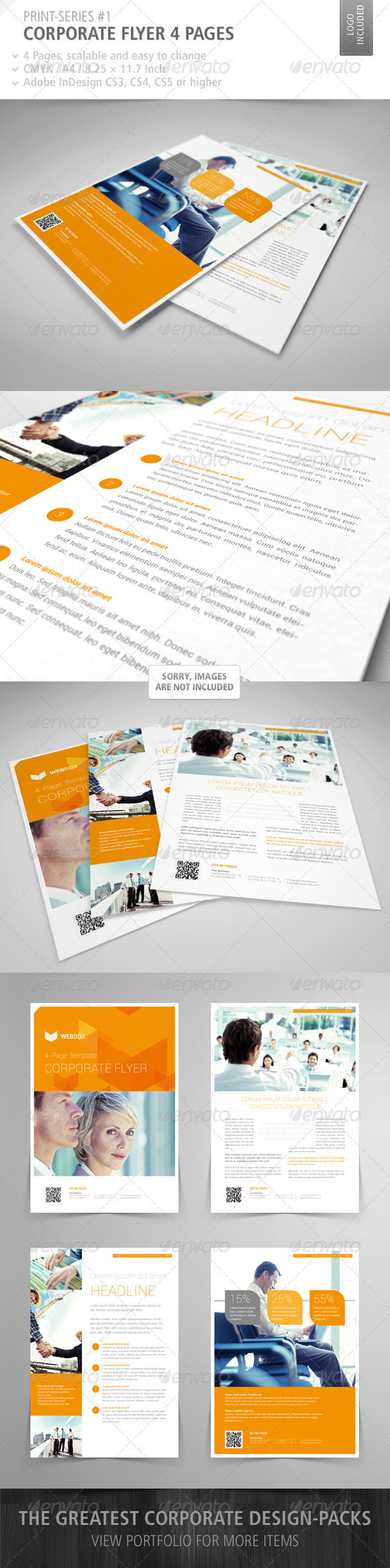 GraphicRiver Corporate Flyer 4 Pages Print-Series #1 3191180