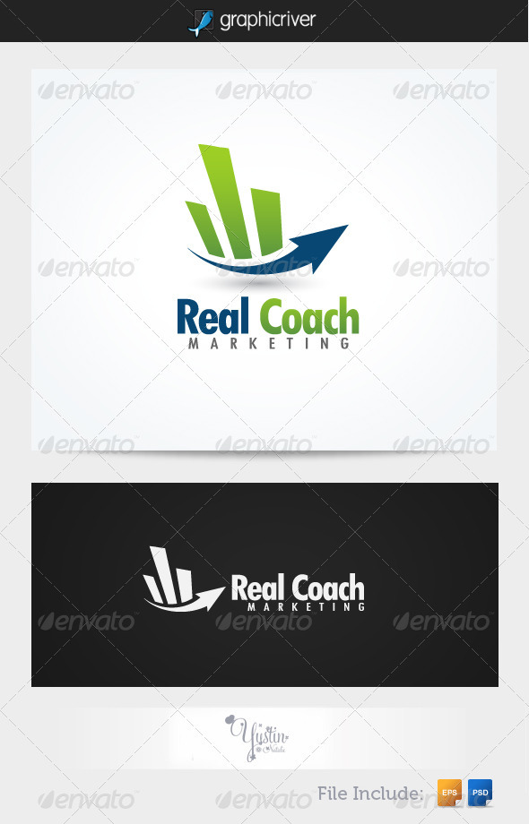 GraphicRiver Real Coach Marketing Logo 3191309