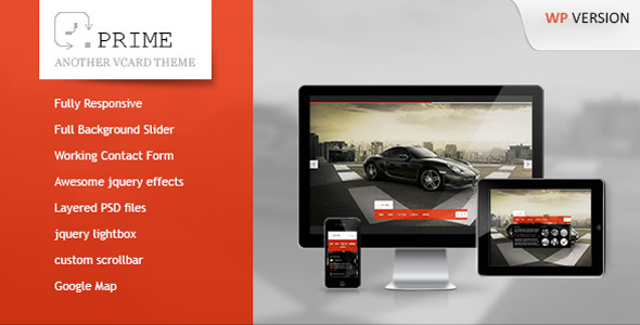 ThemeForest Prime Responsive Wordpress vCard 3127802