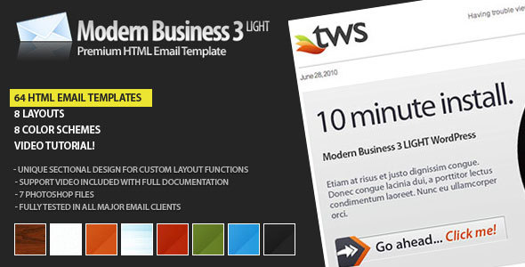 Modern Business 3 LIGHT - Email - Newsletters Email Templates