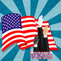 Hand-up election vote for american pressident - PhotoDune Item for Sale