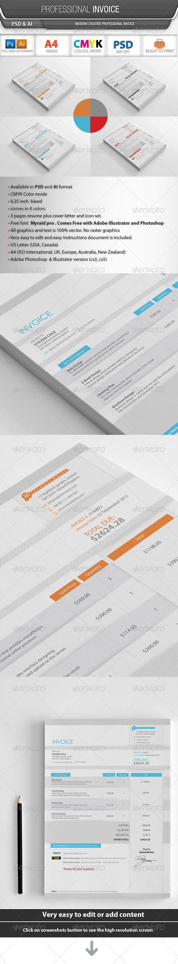 GraphicRiver Professional Invoice 3193522