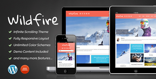 Wildfire - Responsive Portfolio Theme - Portfolio Creative
