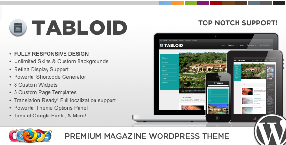 WP Tabloid Responsive News & Magazine Theme - Blog / Magazine WordPress