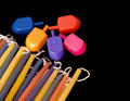 Colorful dreidels and Chanukah candles - PhotoDune Item for Sale