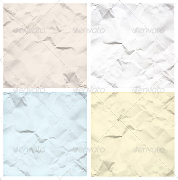 Crumpled Paper Texture Backgrounds GraphicRiver - Vectors -  Decorative  Backgrounds 3195806