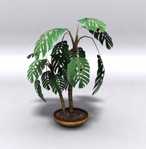 3DOcean Lowpoly plant 112200