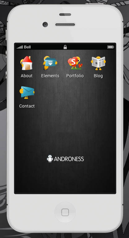 Androness Retina-ready Mobile Template