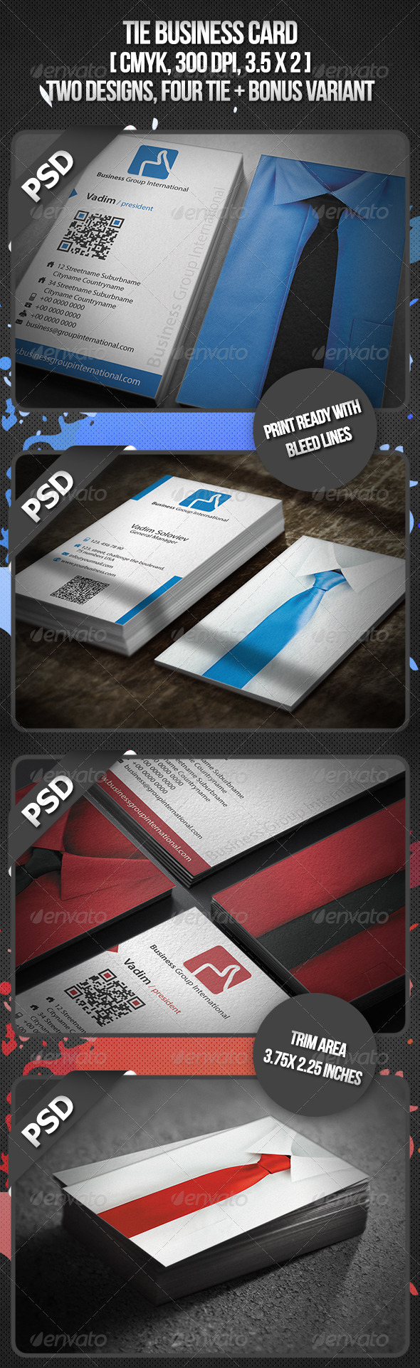 Tie Business Card - Corporate Business Cards