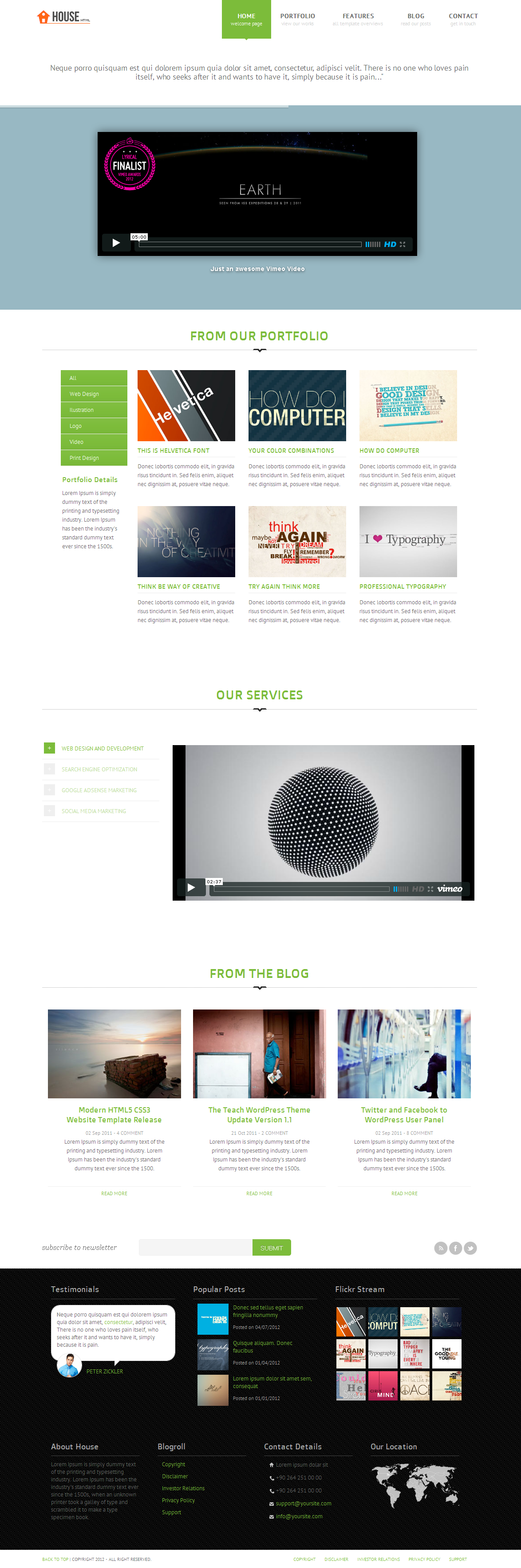 House - Clean HTML Website Template