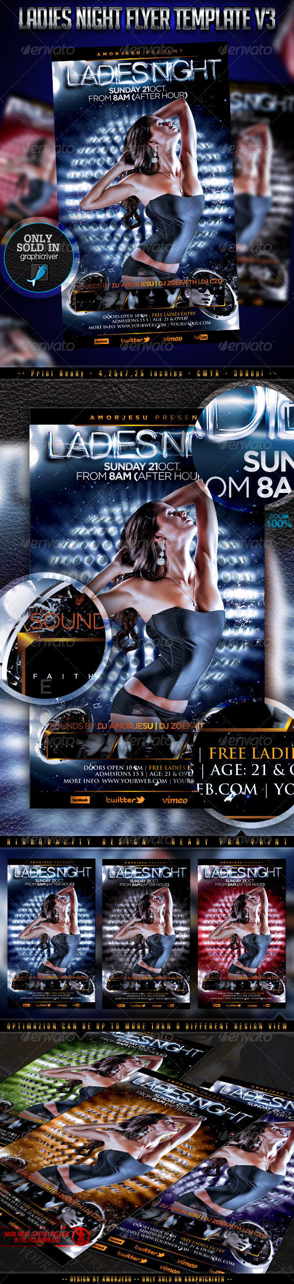 Ladies Night Flyer Template V3 - Events Flyers