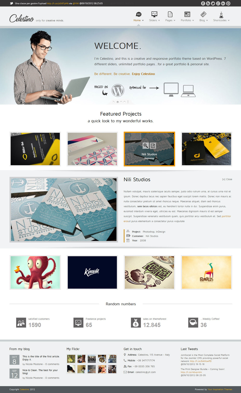 Celestino - Clean and Creative Portfolio Theme