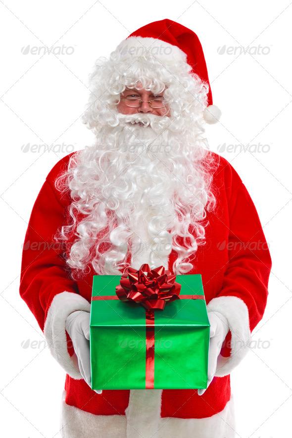 Santa Claus giving you a gift