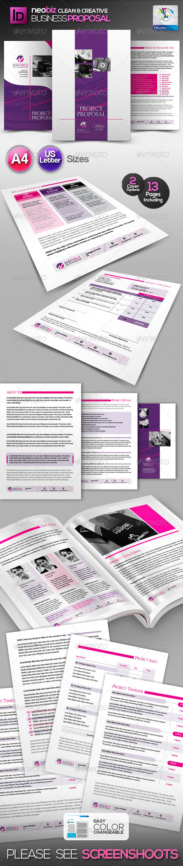 GraphicRiver NeoBiz Clean Generic Proposal 3200898