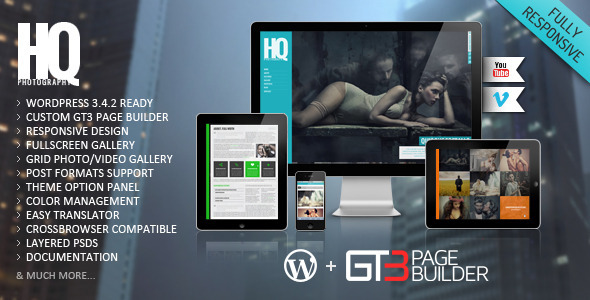 ThemeForest HQ Photography Responsive WP Theme 3200962