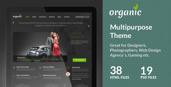 Organic Multipurpose Theme - Creative Site Templates