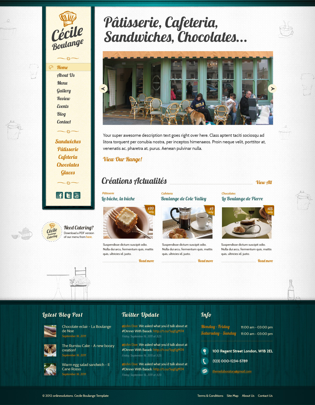 Cecile Boulange HTML - Bakery, Restaurant, Cafe