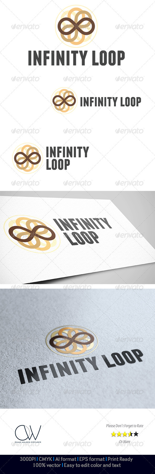 Infinity Loop Logo - Abstract Logo Templates
