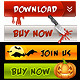 Halloween Buttons and Symbols - GraphicRiver Item for Sale