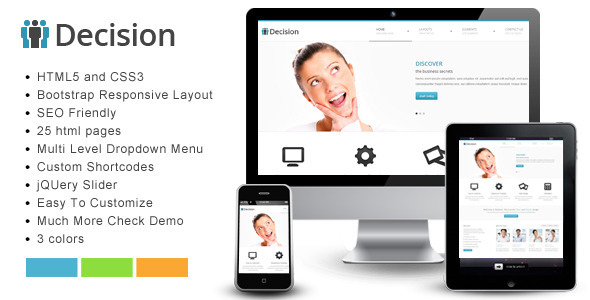 Decision - Bootstrap Responsive Template professional website template
